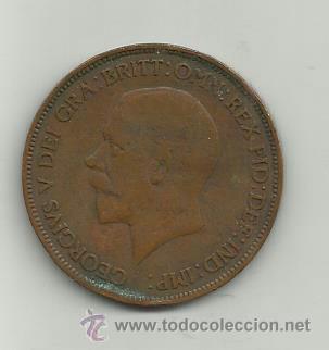 INGLATERRA GEORGIUS V - ONE PENNY - AÑO 1930 (Numismática - Extranjeras - Europa)