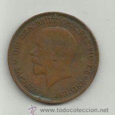Monedas antiguas de Europa: INGLATERRA GEORGIUS V - ONE PENNY - AÑO 1930. Lote 37505596