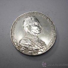 Monedas antiguas de Europa: 3 MARCOS DE PLATA DE 1913.KAISER GUILLERMO II DE PRUSIA, ALEMANIA. Lote 37588893