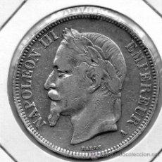 Monedas antiguas de Europa: FRANCIA 5 FRANCOS PLATA 1.868 NAPOLEON III 37 MM. MBC. Lote 38208542