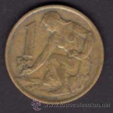 Monedas antiguas de Europa: UNA CORONA DE 1963 - CHECOSLOVAQUIA. Lote 38328944