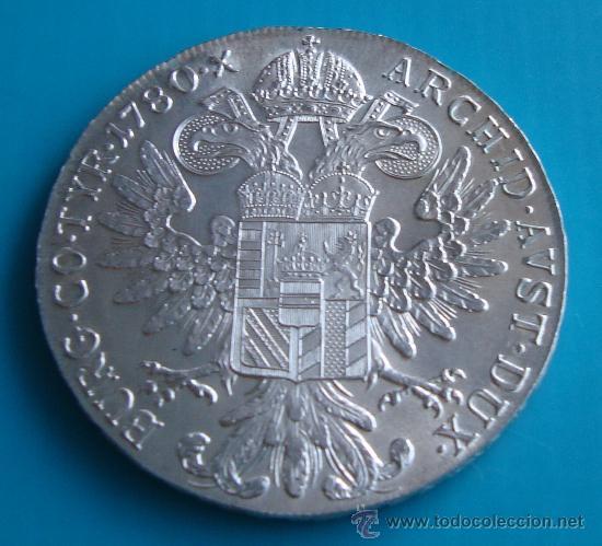 Monedas antiguas de Europa: MONEDA, TALERO DE PLATA, AUSTRIACO DE MARIA THERESA, (Reacuñación) 1780 - Foto 2 - 38348404