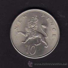 Monedas antiguas de Europa: 10 NEW PENCE DE 1968 - EFIGIE REINA ISABEL II - INGLATERRA. Lote 38364794