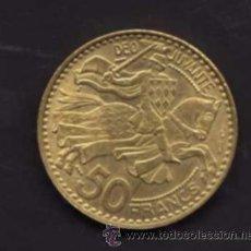 Monedas antiguas de Europa: 50 FRANCOS DE 1950 - EFIGIE DE RAINIERO III - MÓNACO. Lote 38365067