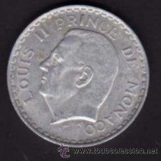Monedas antiguas de Europa: 5 FRANCOS DE 1945 - EFIGIE DE LUIS II - MÓNACO. Lote 38365081
