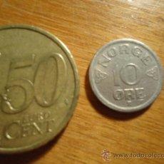 Monedas antiguas de Europa: NORUEGA 10 ORE 1956. Lote 38377789