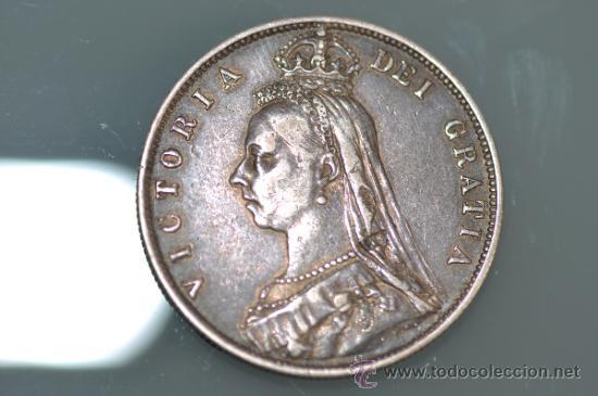 Half crown 1887 moneda inglesa de plata vict - Sold through Direct