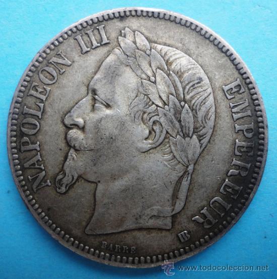 NAPOLEÓN III. 5 FRANCOS. 1868 (Numismática - Extranjeras - Europa)
