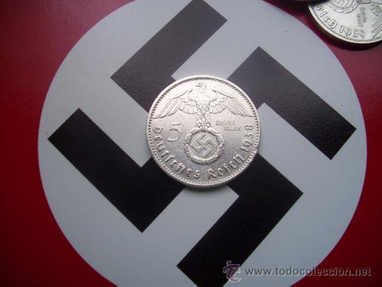 III REICH: 5 REICHSMARK DE PLATA 1938-G (Numismática - Extranjeras - Europa)