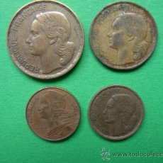 Monedas antiguas de Europa: FRANCIA LOTE 4 MONEDAS.. Lote 38911101