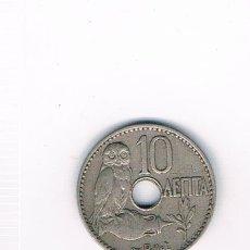 Monedas antiguas de Europa: GRECIA 10 LEPTA AÑO 1912. Lote 39130416