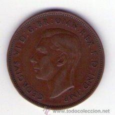 Monedas antiguas de Europa: GRAN BRETAÑA. ONE PENNY 1937. JORGE VI. KM#845. MBC. Lote 39225258