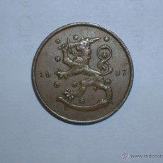 Monedas antiguas de Europa: FINLANDIA 10 PENNIA 1937 (5153). Lote 128632078