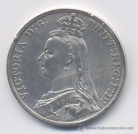 GRAN BRETAÑA- 1 CORONA- 1890 (Numismática - Extranjeras - Europa)