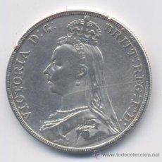 Monedas antiguas de Europa: GRAN BRETAÑA- 1 CORONA- 1890. Lote 40085388