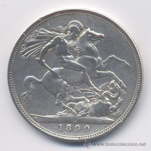 Monedas antiguas de Europa: GRAN BRETAÑA- 1 CORONA- 1890 - Foto 2 - 40085388