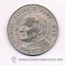 Monedas antiguas de Europa: MONEDA MEDALLA RECUERDO VATICANO JUAN PABLO II AÑOS 80. CRUZ PLAZA DE SAN PEDRO. RARA. Lote 40265540