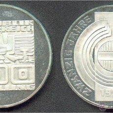 Monedas antiguas de Europa: MONEDA DE PLATA AUSTRIA 100 CHELINES SCHILLING 1975 EBC+. Lote 39987507
