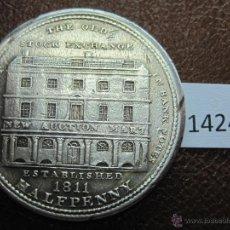 Monedas antiguas de Europa: INGLATERRA 1/2 PENIQUE 1811 LONDON STOCK EXCHANGE HALFPENNY , TOKEN , JETON. Lote 40549671