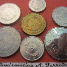 Monedas antiguas de Europa: SERIE DE 7 MONEDAS DE LA ALEMANIA DEMOCRATICA . Lote 40778852