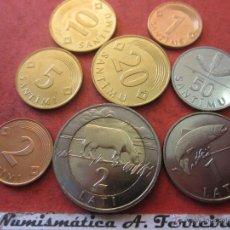 Alte Münzen aus Europa - Serie de 8 monedas de Letonia - 40800868