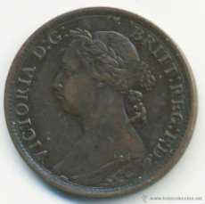 Monedas antiguas de Europa: INGLATERRA. VICTORIA, 1 FARTHING. 1885. MUY BONITO. Lote 40927835