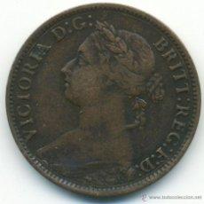 Monedas antiguas de Europa: INGLATERRA. VICTORIA, 1 FARTHING. 1886. MUY BONITO . Lote 40928758