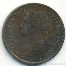 Monedas antiguas de Europa: INGLATERRA. VICTORIA, 1 FARTHING. 1884. MUY BONITO . Lote 40928999