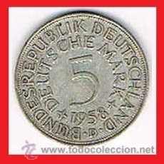 Monedas antiguas de Europa: 5 MARCOS ALEMANIA 1958 D PLATA . Lote 40987653