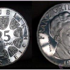 Monedas antiguas de Europa: 25 SCHILLING EN PLATA 1964 DE LA REPUBLICA DE AUSTRIA CASI SIN CIRCULAR. Lote 40987902
