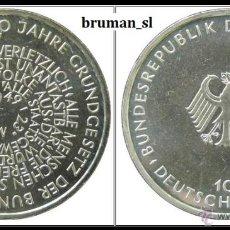 Monedas antiguas de Europa: 10 MARCOS PLATA 1999 D- 50 JAHRE GRUNDGESETZ / 50 AÑOS CONSTITTUCION. Lote 41016185