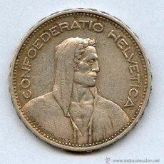 Monedas antiguas de Europa: PLATA SUIZA 1932 5 FRANCOS.. Lote 41153883