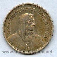 Monedas antiguas de Europa: PLATA MONEDA DE SUIZA AÑO 1933. Lote 41154168