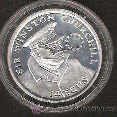 Monedas antiguas de Europa: ECU GIBRALTAR 14 ECUS 1993 SIR WINSTON CHURCHILL -LIQUIDACION COLECCION--. Lote 41248126