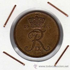 Monedas antiguas de Europa: DINAMARCA : 5 ÖRE 1963 EBC+. Lote 41254045