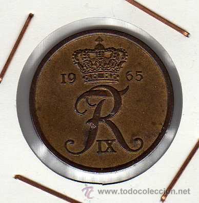 DINAMARCA : 5 ÖRE 1965 EBC+ (Numismática - Extranjeras - Europa)