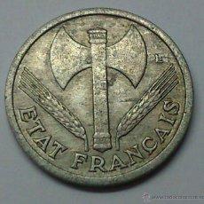 Monedas antiguas de Europa: 1 FRANC. 1944. FRANCIA. KM 902.1. Lote 195250237