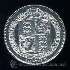 Monedas antiguas de Europa: GRAN BRETAÑA : 1 CHELIN 1890 (PLATA) S/C- BRILLO ORIGINAL RARA. Lote 41397667