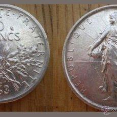 Monedas antiguas de Europa: 5 FRANCOS FRANCIA 1963 PLATA EBC CASI SIN CIRCULAR MUY ESCASA. Lote 41402943