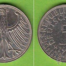 Monedas antiguas de Europa: MONEDA DE PLATA 5 MARCOS ALEMANIA 1951 F MUY ESCASA. Lote 41403386