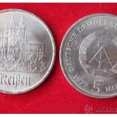 Monedas antiguas de Europa: 5 MARCOS - MEISSEN - 1972 LETRA A ALEMANIA DEMOCRATICA MUY BUEN ESTADO. Lote 41411411
