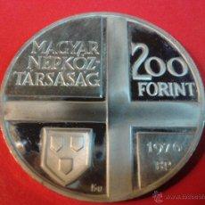 Monedas antiguas de Europa: MONEDA HUNGRIA 200 FORINT PLATA 1976 VER DETALLE. Lote 41757294