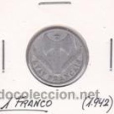 Monedas antiguas de Europa: FRANCIA 1 FRANCO 1942. Lote 42134598