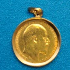 Monedas antiguas de Europa: MONEDA DE ORO EN COLGANTE, INGLATERRA EDUARDO VII, 1906. Lote 42195483