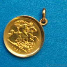 Monedas antiguas de Europa: MONEDA ORO EN COLGANTE, INGLATERRA, REINA VICTORIA 1897. Lote 42195538