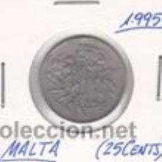MALTA 25 CENTS 1995