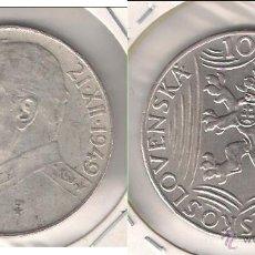 Monedas antiguas de Europa: MONEDA DE 100 CORONAS DE CHECOSLOVAQUIA DE 1949. PLATA. MBC+ 70 CUMPLEAÑOS DE JOSEF STALIN. (ME821).. Lote 42326044