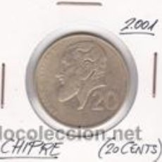 Monedas antiguas de Europa: CHIPRE 20 CENTS 2001. Lote 42353063