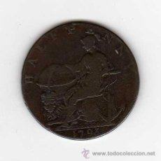 Monedas antiguas de Europa: HALFPENNY TOKEN 1793 : NORFOLK ( NORWICH ) R. CAMPIN HABERDASHER MBC- ( VALOR CATÁLOGO 20 EUR ) . Lote 42426664