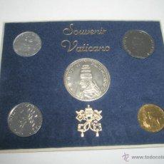 Monedas antiguas de Europa: MONEDAS-VATICANO-PABLO VI-PLATA-5 MONEDAS-SOUVENIR VATICANO-1975-.. Lote 42431537